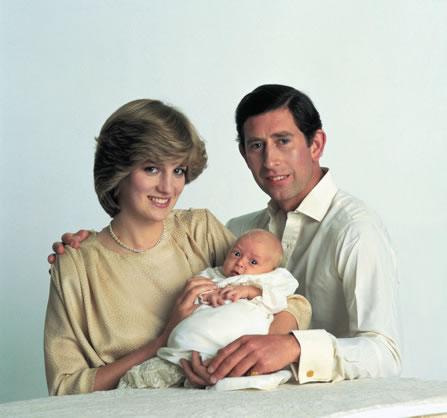 Princess Diana and Prince Charles with Newborn William